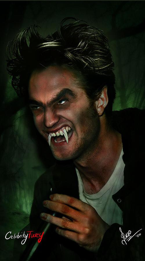Robert Pattinson Digital Art - Robert Pattinson by Queso Espinosa