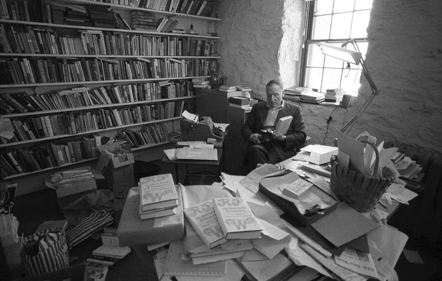 Robert Penn Warren At Home Photograph by I C Rapoport