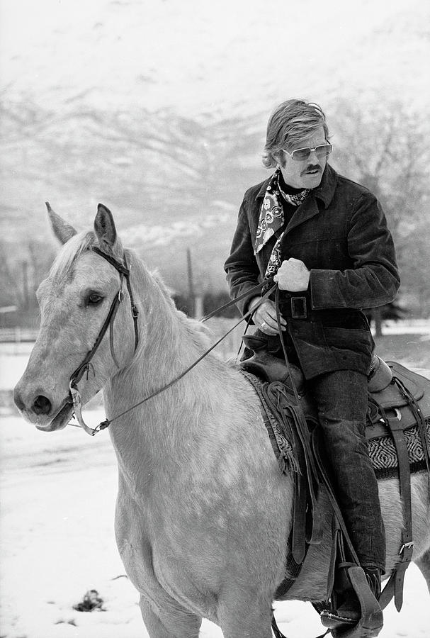 Robert Redford On A Horse Photograph by John Dominis