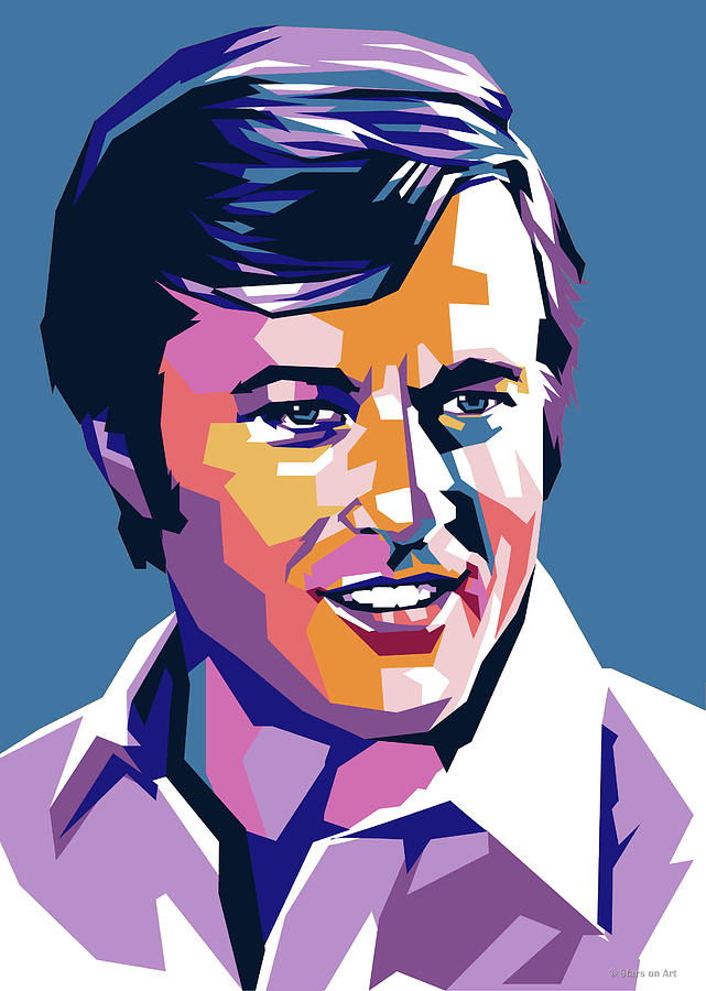 Robert Redford pop art by Stars on Art