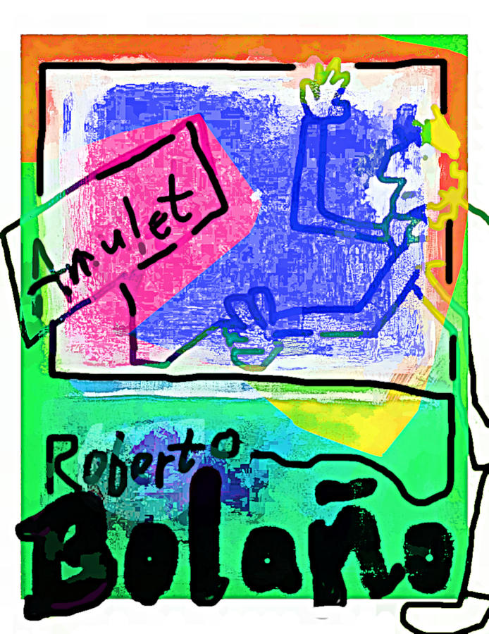 Roberto Bolano amulet poster  by Paul Sutcliffe