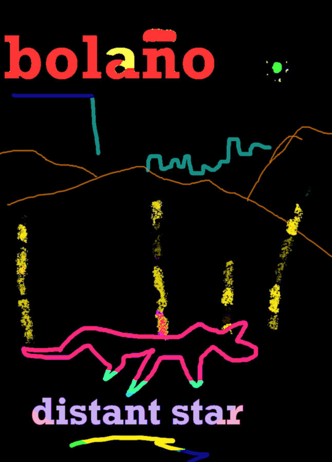 Roberto Bolano Poster DS  by Paul Sutcliffe