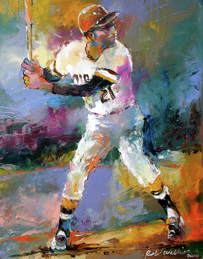 Roberto Clemente Painting - Roberto Clemente by Richard Wallich