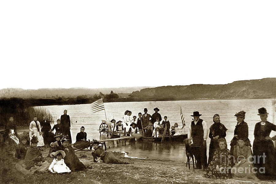 Roberts Lake, 4th of July Seaside, California 1895  by California Views Archives Mr Pat Hathaway Archives