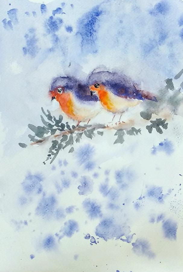 Robin couple by Asha Sudhaker Shenoy