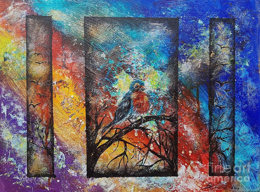 Robin space by Elwira Bernaciak