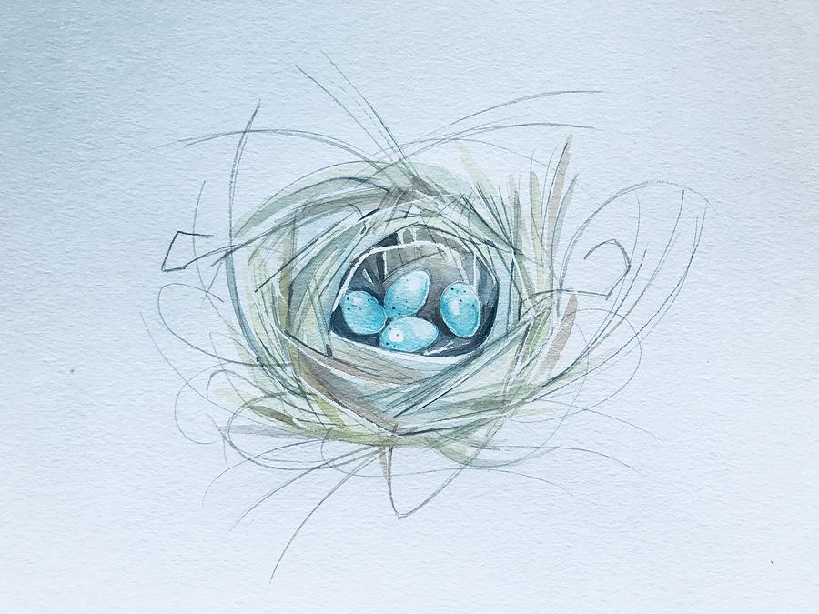 Robins Nest Painting