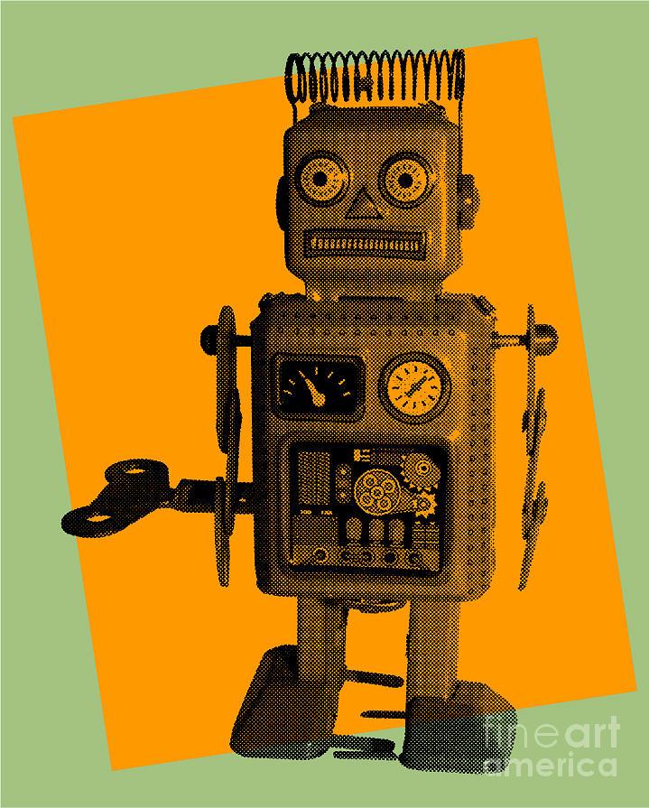 Play Digital Art - Robot by Freelanceartist