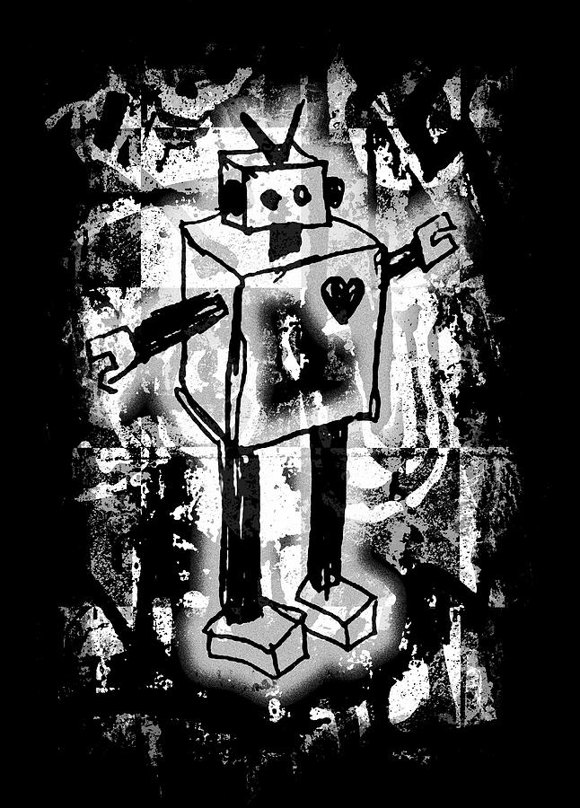 Robot Graffiti Graphic by Roseanne Jones