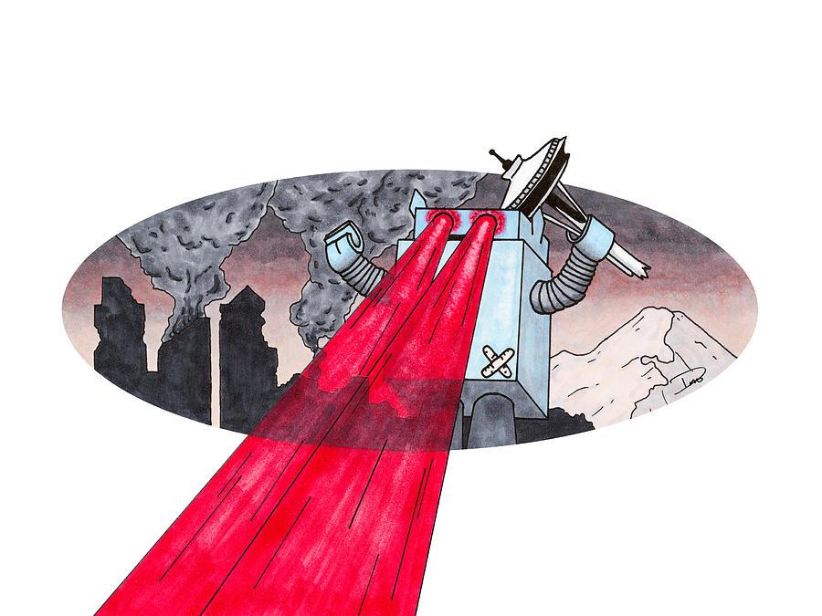 Robot Rampage by Derek Motonaga