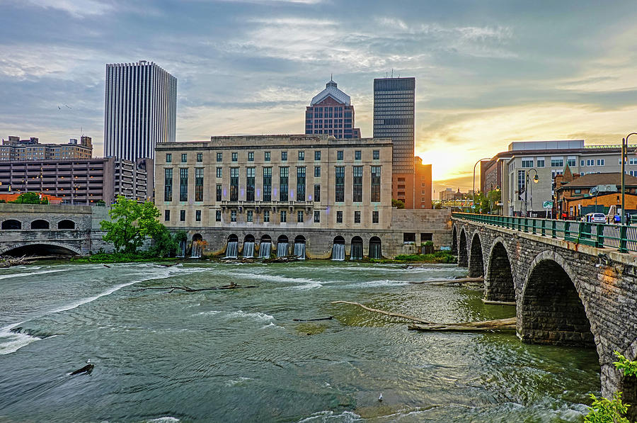 Rochester NY Court Street Bridge at Sunrise by Toby McGuire