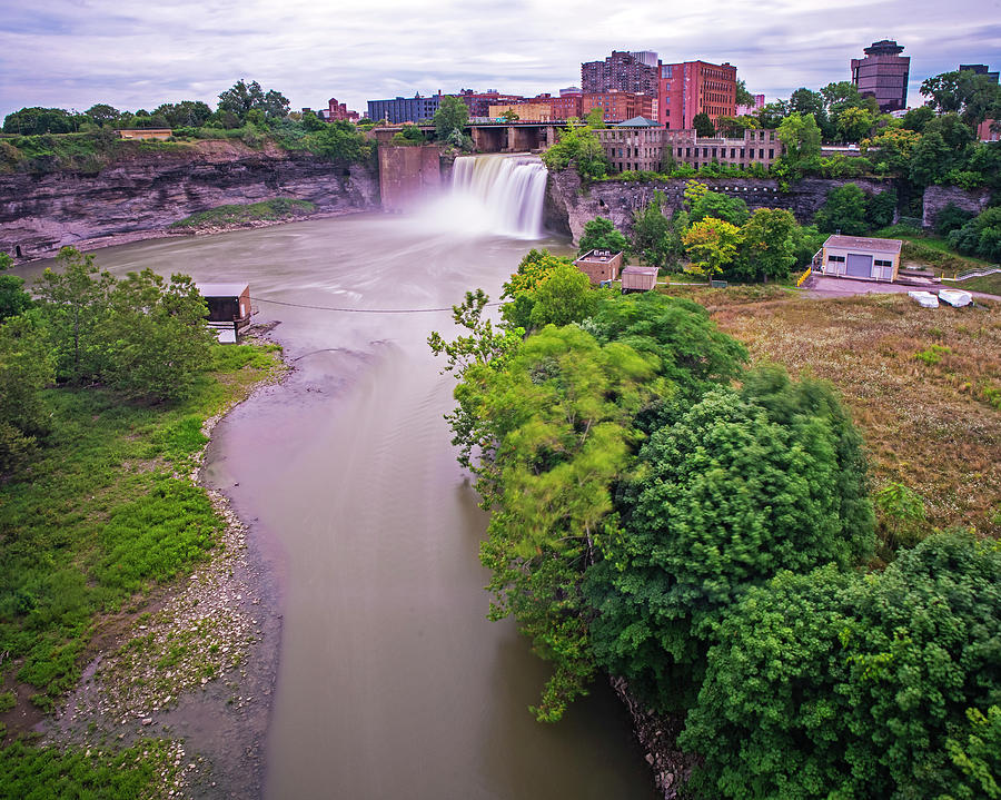 Rochester NY High Falls Waterfall Smooth Water by Toby McGuire