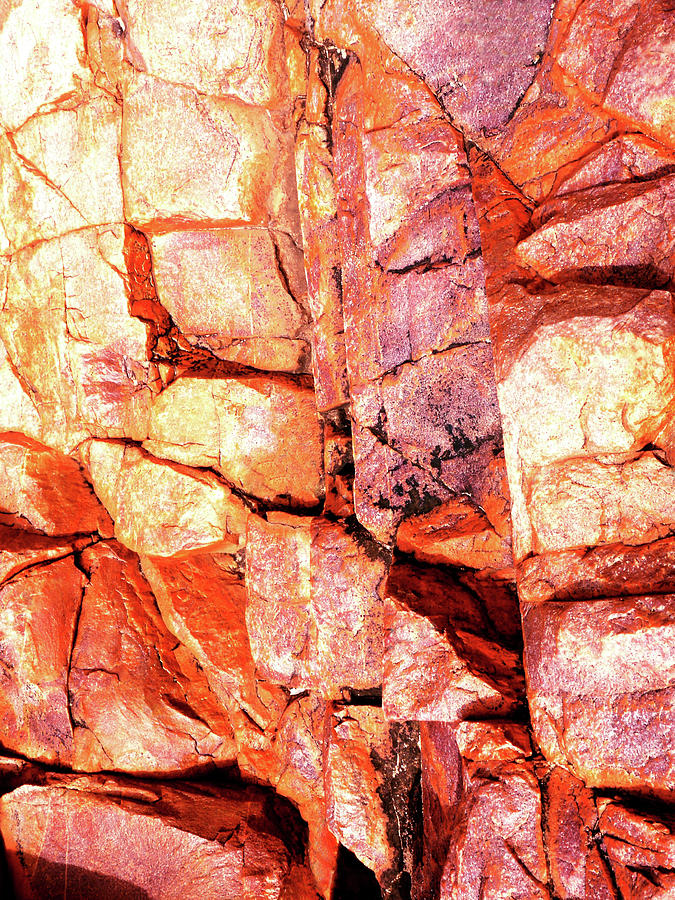 Rock Abstracts Of Ormiston Gorge #39 by Lexa Harpell