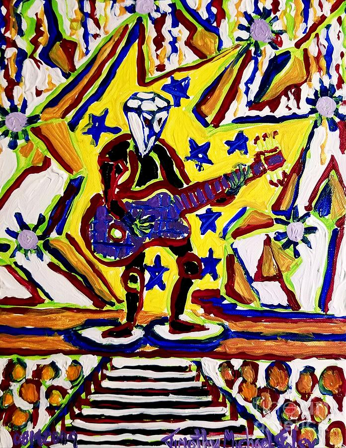 Rock And Roll Painting - Rock And Roll Hall Dreams  by Timothy Foley