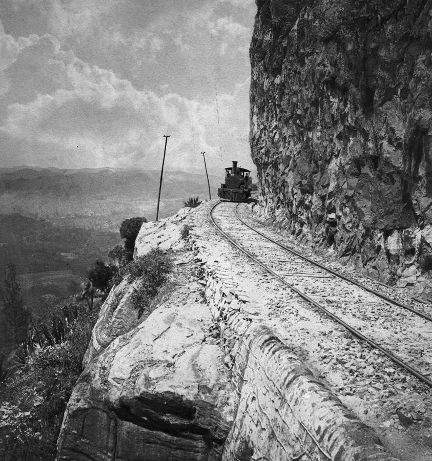 Rock Face Railway Photograph by Spencer Arnold Collection