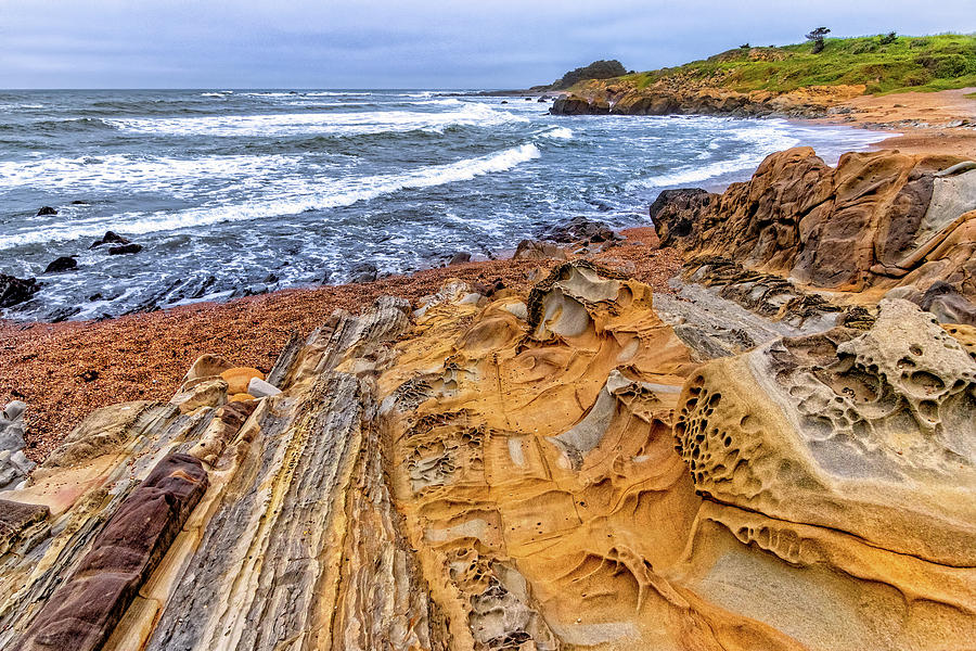 Rock Formations at Pebble Beach by Carolyn Derstine