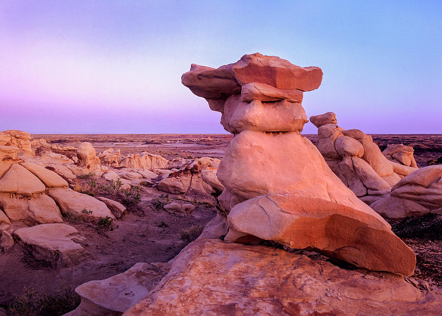 Mp Photograph - Rock Formations, Bisti Badlands, New by Tim Fitzharris