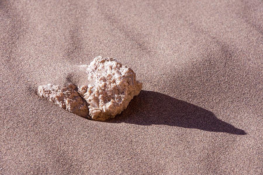 Rock in Sand by Mark Hunter