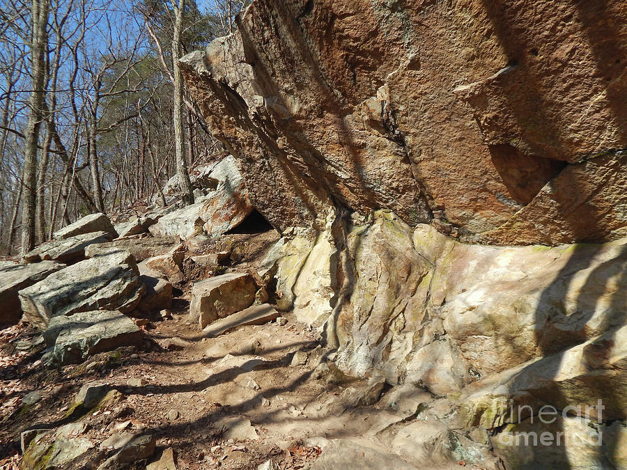 House Mountain Photograph - Rock Ledge by Phil Perkins