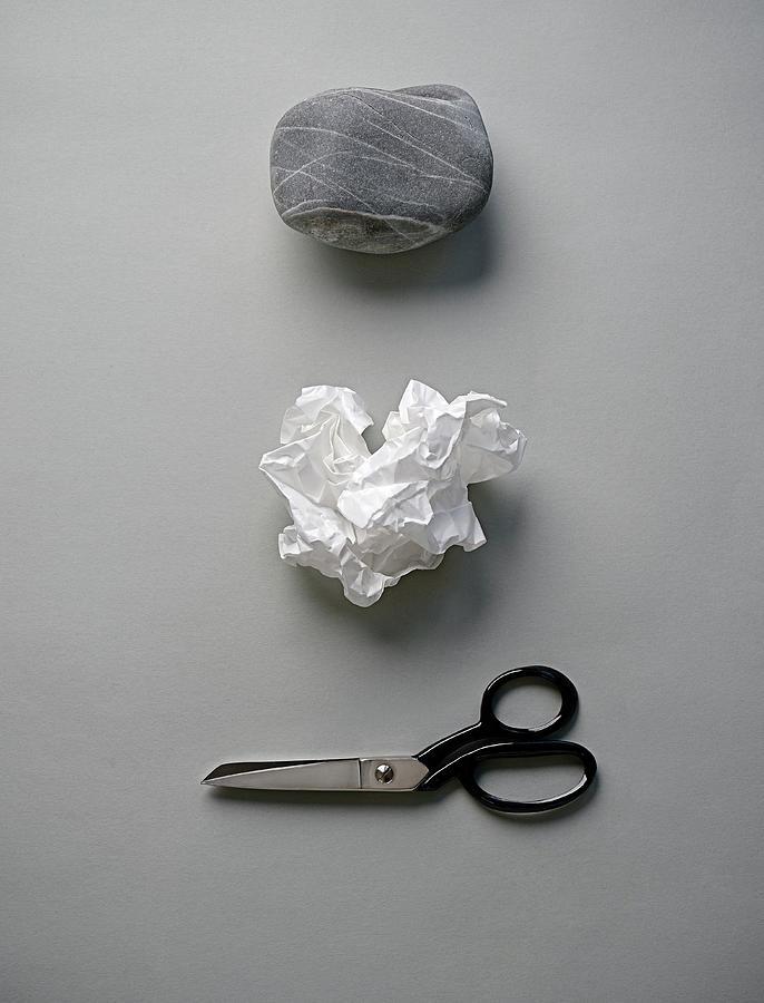 Rock, Paper & Scissors Photograph by David Malan