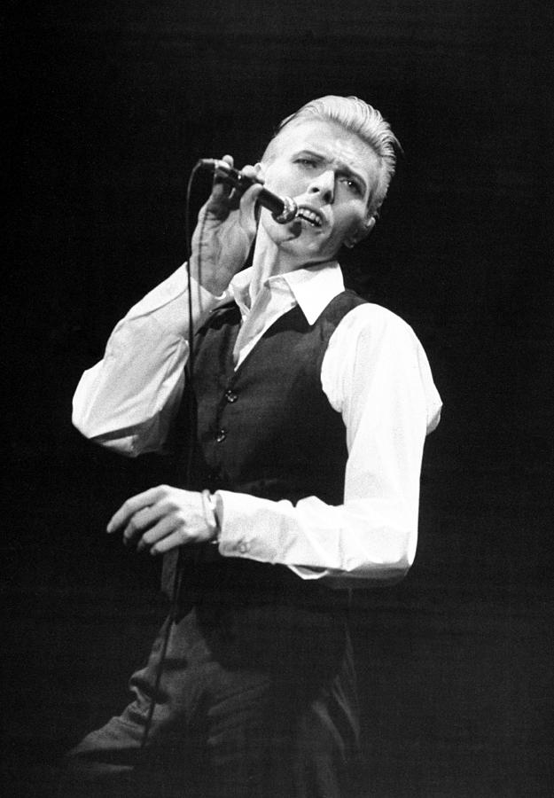 Rock Singer David Bowie In Concert At Photograph by New York Daily News Archive