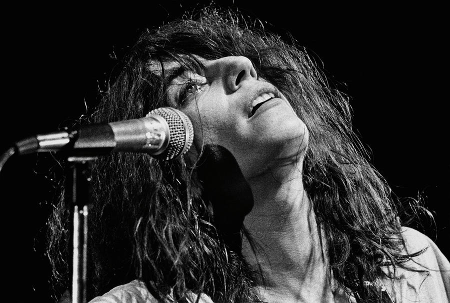 Rock Singer Patti Smith In Concert Photograph by George Rose