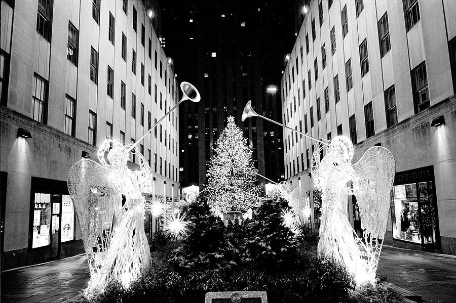 Landmarks Photograph - Rockefeller Center Angels by Dave Beckerman