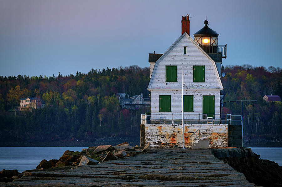 Rockland Breakwater Lighthouse by Rick Berk