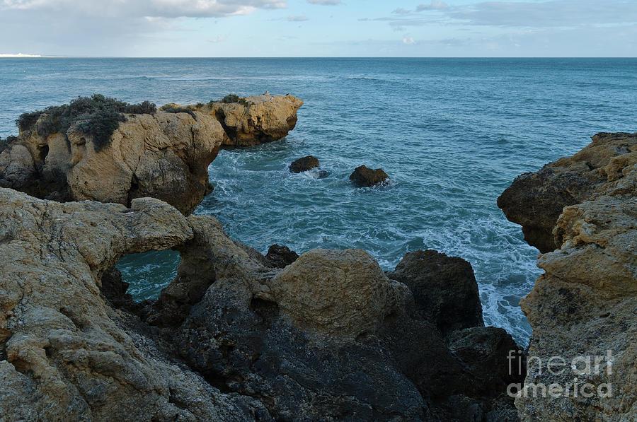 Rocks and Sea Near Aveiros Beach by Angelo DeVal