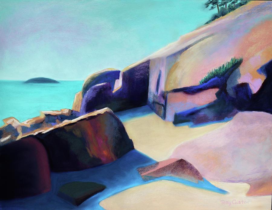 Rocks at Sand Beach, Acadia by Polly Castor