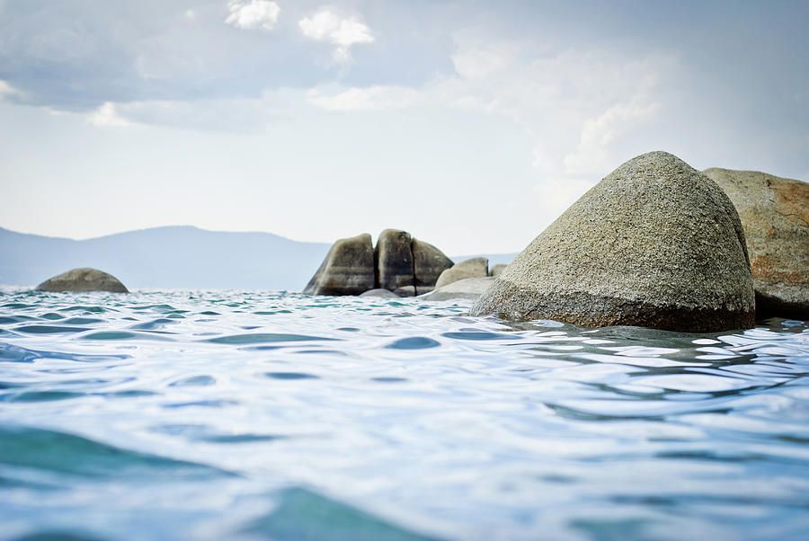 Rocks In Lake Tahoe Photograph by Mundusimages
