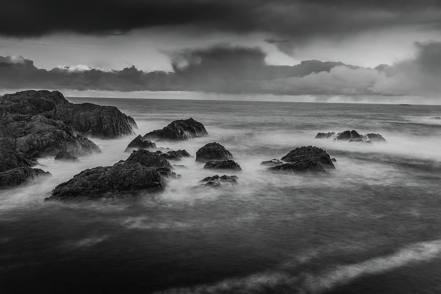 Norway Photograph - Rocks In The Storm by Kai Mueller