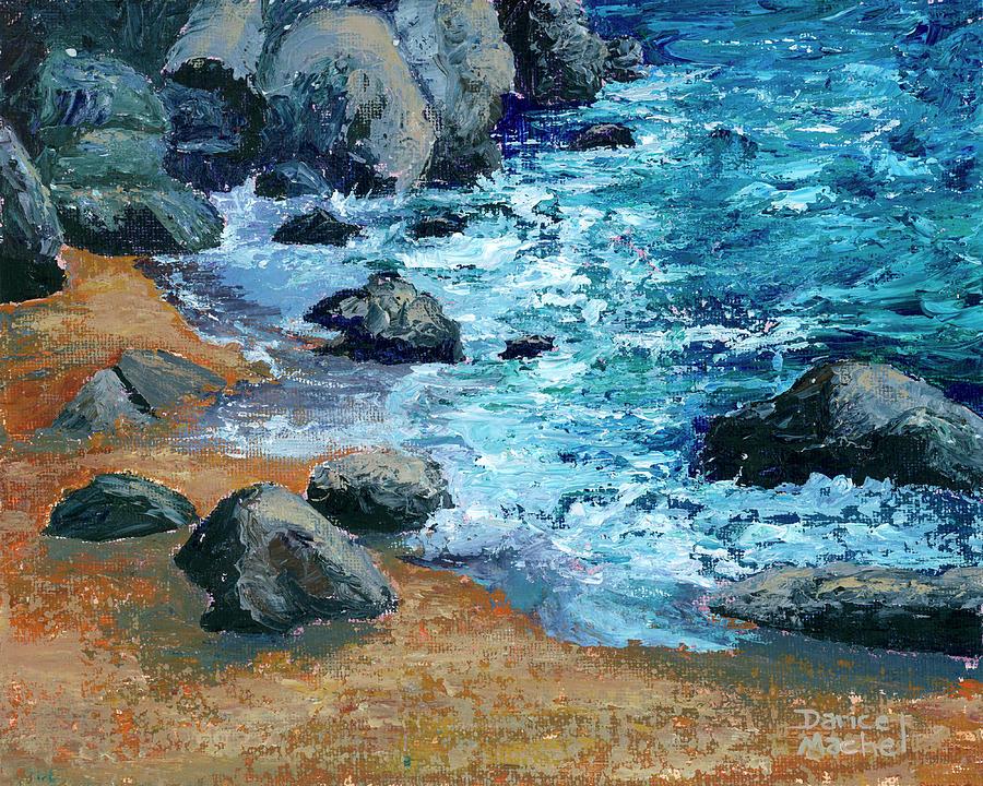 Rocks On DT Fleming Beach by Darice Machel McGuire