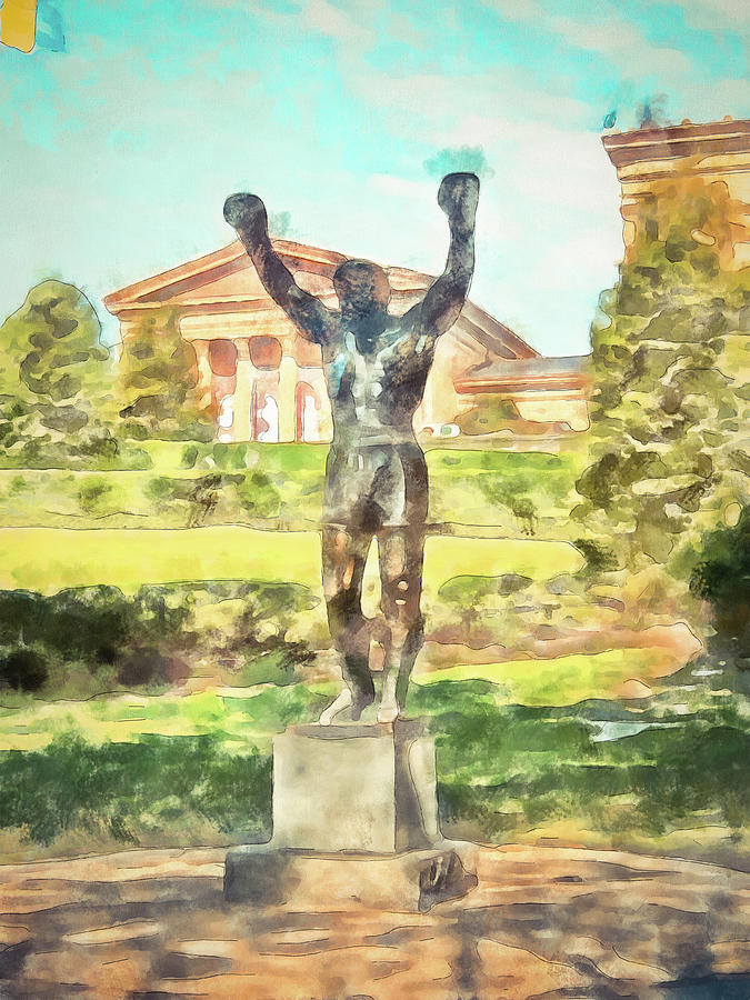 Rocky At The Art Museum by Trish Tritz