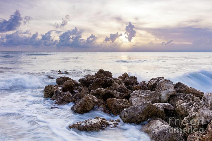 Rocky Beach at Sunset by Brian Jannsen