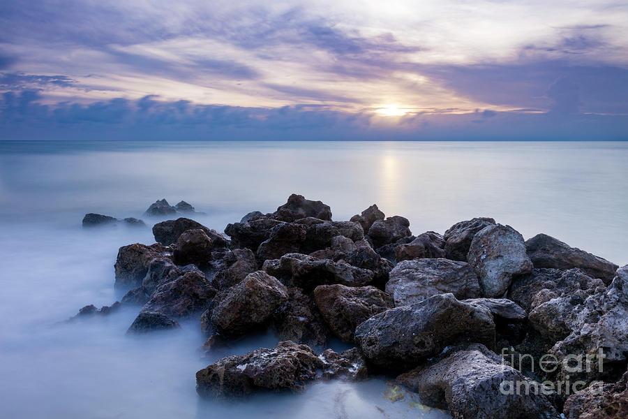 Rocky Beach at Sunset II by Brian Jannsen