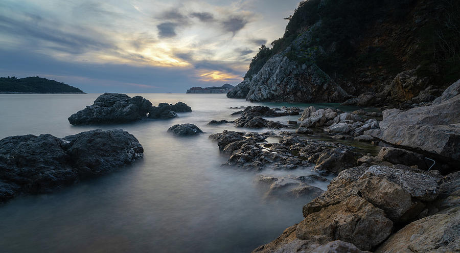 Rocky Coast near Dubrovnik by Milan Ljubisavljevic