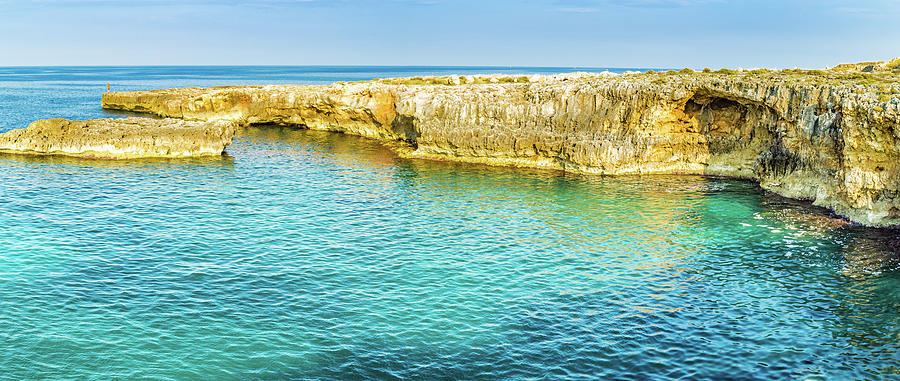 rocky coastal shore of Puglia by Gone With The Wind