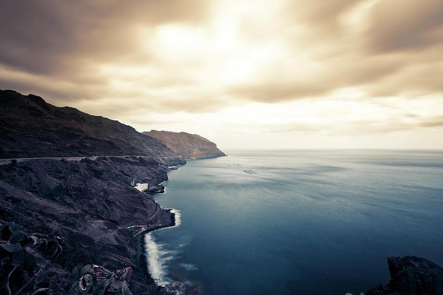 Rocky Coastline, Canary Island Seascape Photograph by Zodebala