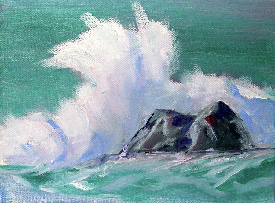 Rocky Coastline Painting - Rocky Coastline by Nancy Merkle