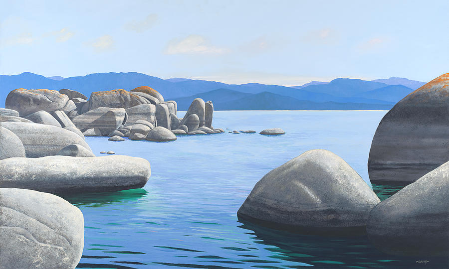 Rocky Cove on Lake Tahoe by Frank Wilson