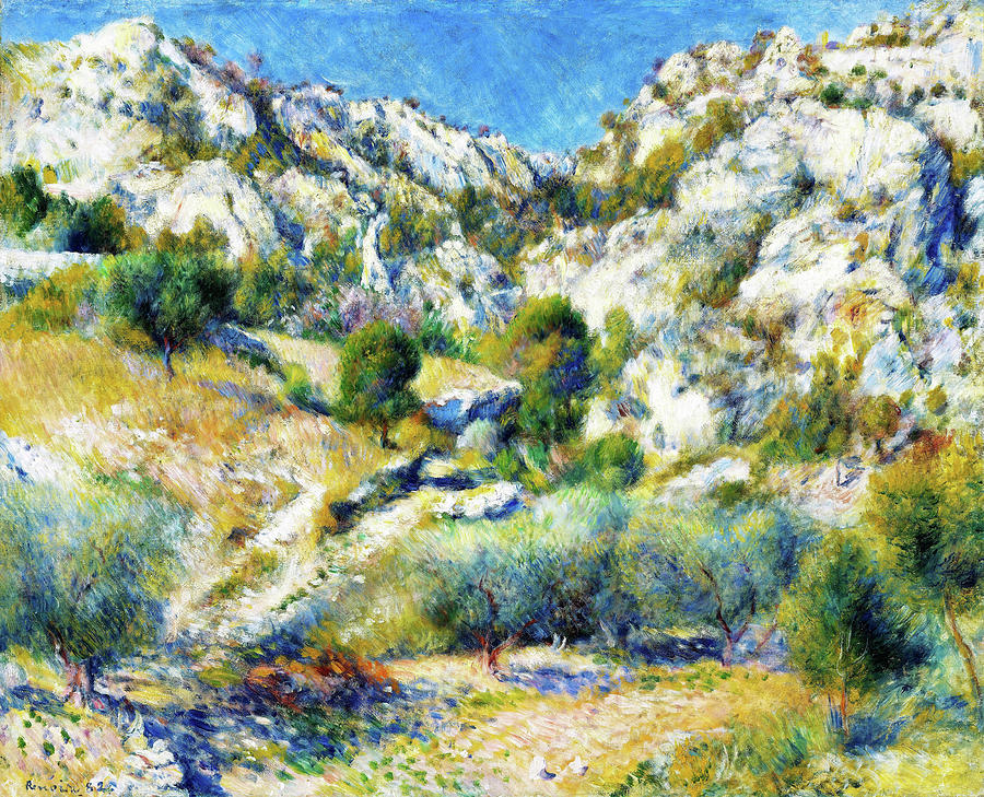 Pierre-auguste Renoir Painting - Rocky Crags At Lestaque - Digital Remastered Edition by Pierre-Auguste Renoir