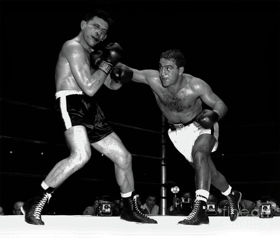 Rocky Marciano fights Roland LaStarza - 1953 by Doc Braham