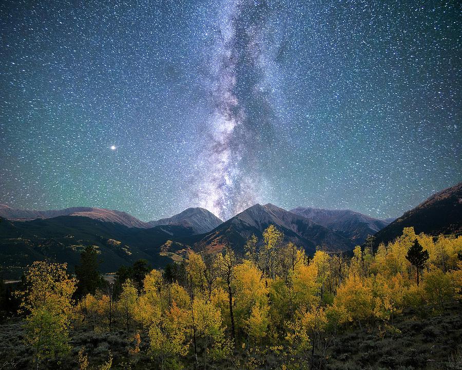 Rocky Mountain Autumn Stars by Aaron Spong