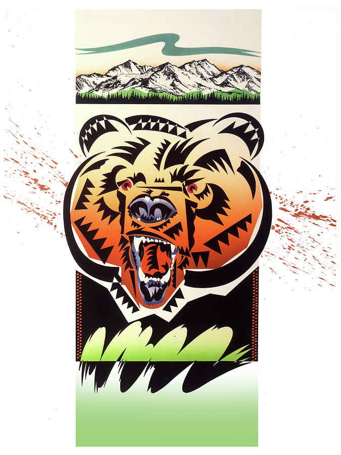 Rocky Mountains Painting - Rocky Mountain Grizzly by Garth Glazier