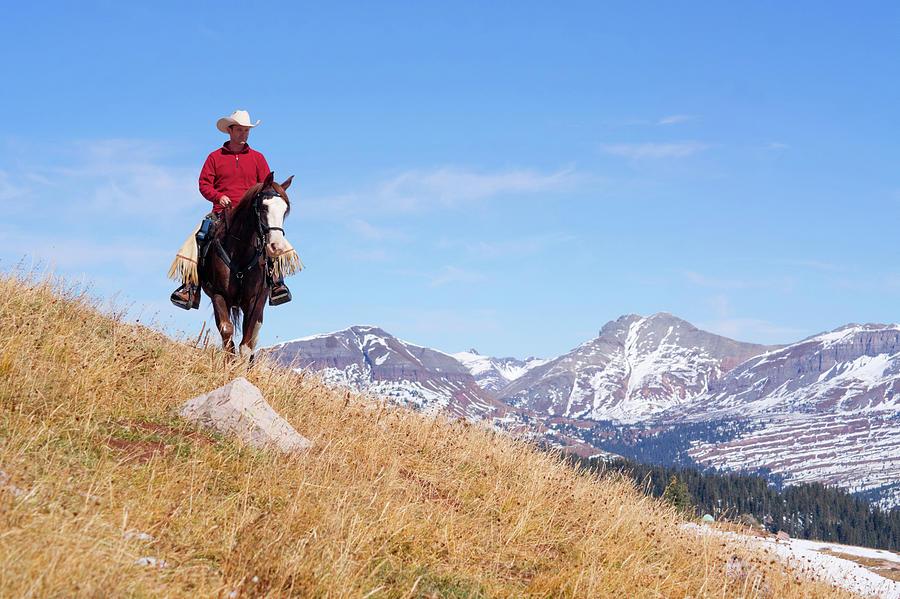 Rocky Mountain Horseback Riding Photograph by Amygdala imagery