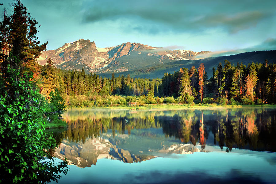 America Photograph - Rocky Mountain Morning - Estes Park Colorado by Gregory Ballos
