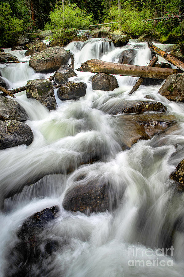 Rocky Mountain National Park Waterfalls and rushing creeks by Ronda Kimbrow