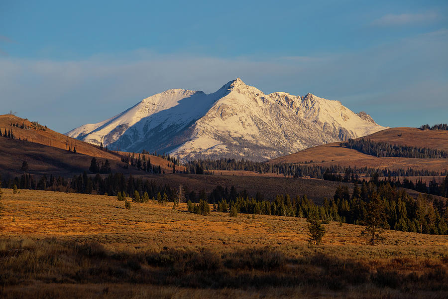 Rocky Mountain range in Yellowstone by Kathleen Scanlan