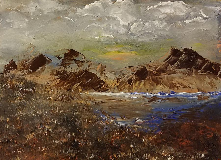 Mountain Painting - Rocky Mountain Sunset by Richard Morris